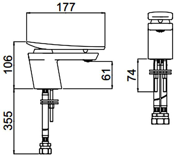 Technical drawing QS-V88325 / MCLR 1HBF CR