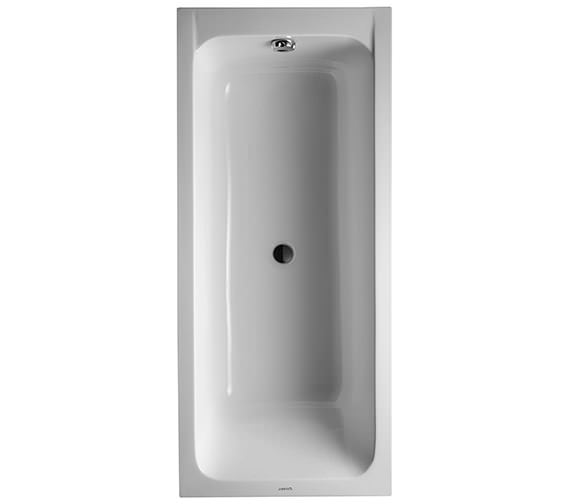 Duravit D-Code 1700 x 750mm Built-In Bathtub With Support Feet - Central Outlet