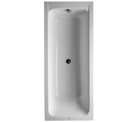 Duravit D-Code 1700 x 700mm Built-In Bathtub Without Feet - Central Outlet