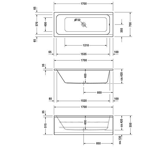 Technical drawing QS-V6455 / 700097000000000