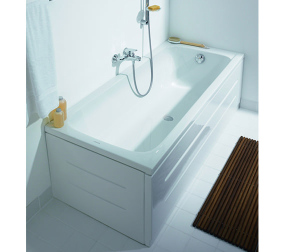 Additional image of Duravit D-Code Built-In Bathtub Without Feet - Central Outlet