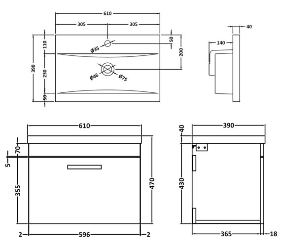 Technical drawing QS-V42354 / ATH041A