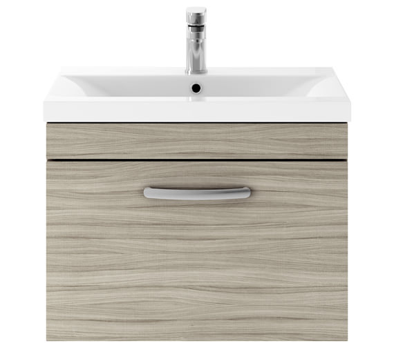 Additional image of Premier Athena 600mm 1 Drawer Wall Hung Cabinet With Basin 1 Gloss White Finish