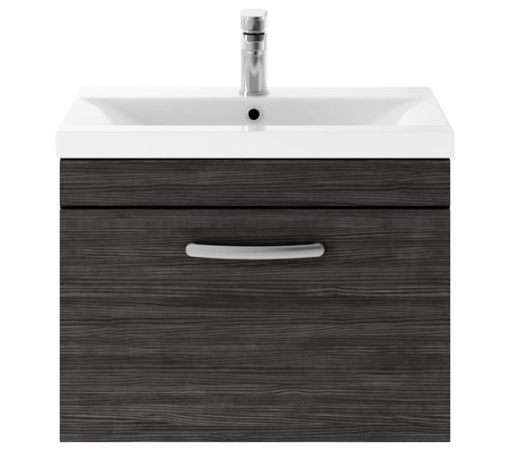 Alternate image of Premier Athena 600mm 1 Drawer Wall Hung Cabinet With Basin 1 Gloss White Finish