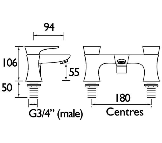 Technical drawing QS-V88329 / MHOU BF CR