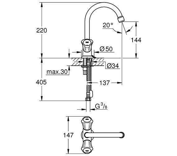 Technical drawing QS-V80703 / 21374001