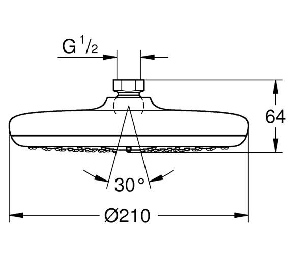 Technical drawing QS-V80714 / 26410000
