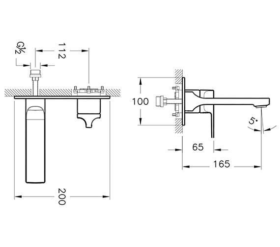 Technical drawing QS-V90529 / A42486VUK