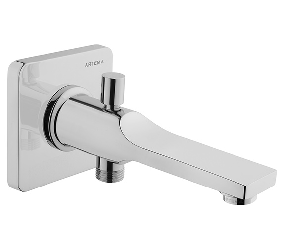 VitrA Suit L Wall Mounted Chrome Bath Spout With Handshower Outlet Chrome