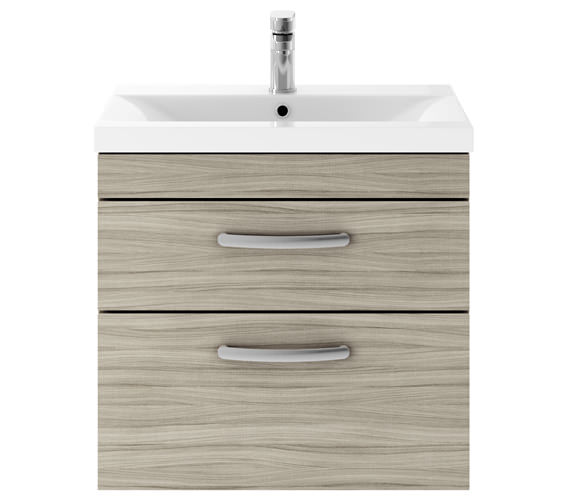 Additional image of Premier Athena 600mm 2 Drawer Wall Hung Cabinet With Basin 2 Gloss White Finish
