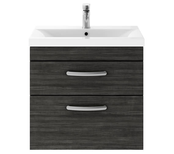 Alternate image of Premier Athena 600mm 2 Drawer Wall Hung Cabinet With Basin 2 Gloss White Finish