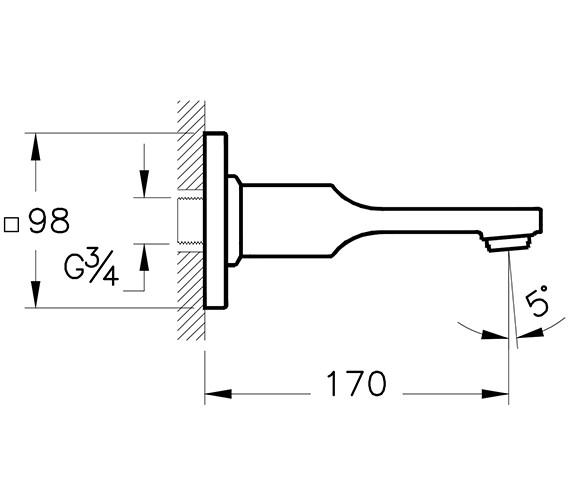 Technical drawing QS-V90531 / A42491VUK
