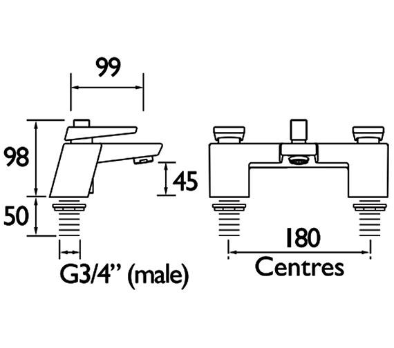 Technical drawing QS-V88333 / MSAI BF CR