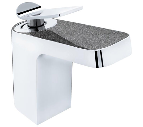 Additional image of Bristan Metallix Alp Chrome And Copper Basin Mixer Tap With Clicker Waste