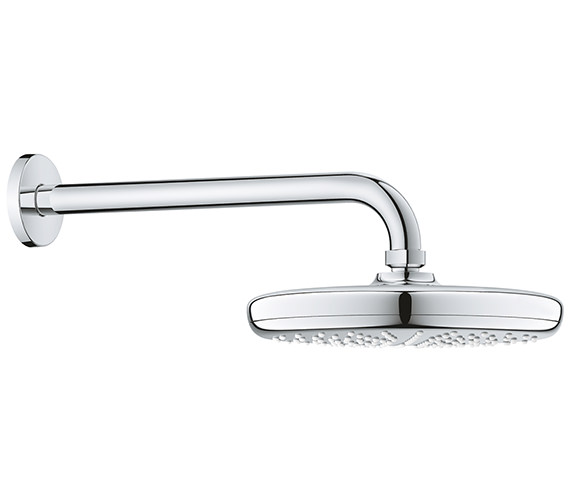 Grohe Tempesta 210mm Wall Mounted Shower Head With 268mm Arm