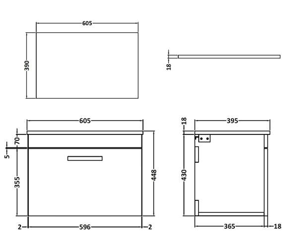 Technical drawing QS-V42350 / ATH013W