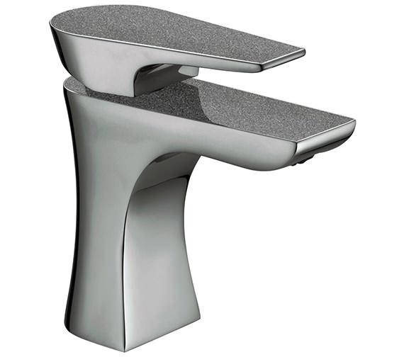Additional image of Bristan Metallix Hourglass Basin Mixer Tap with Clicker Waste