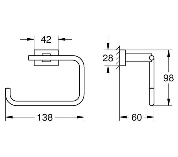 Technical drawing QS-V80725 / 40507001
