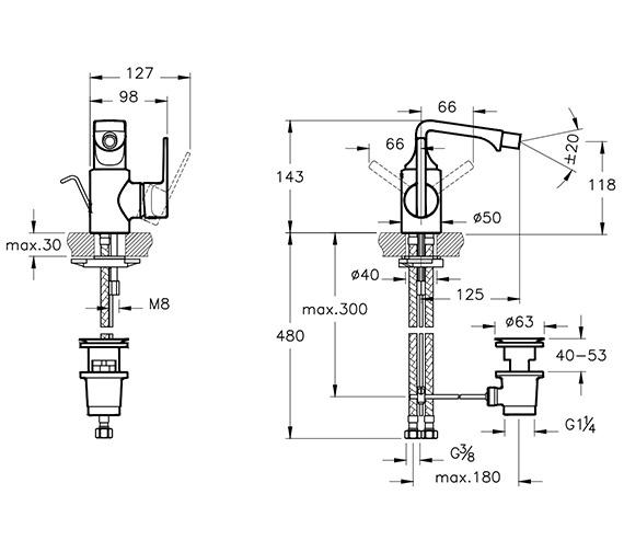 Technical drawing QS-V90537 / A42494VUK