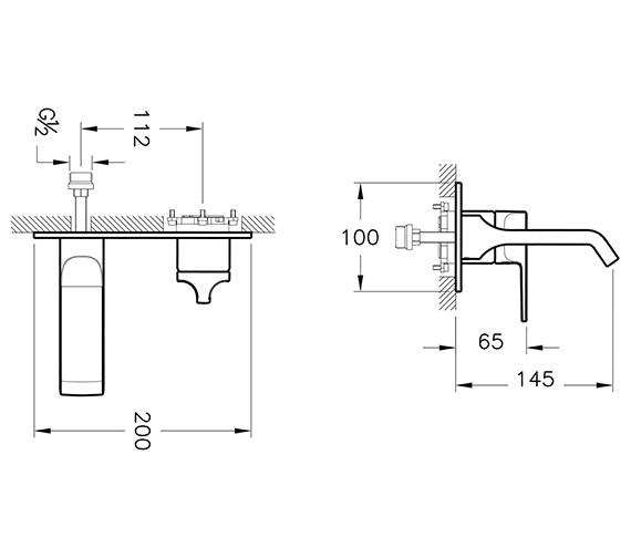 Technical drawing QS-V90538 / A42487EXP