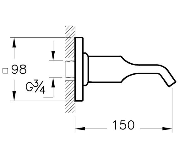 Technical drawing QS-V90535 / A42492EXP
