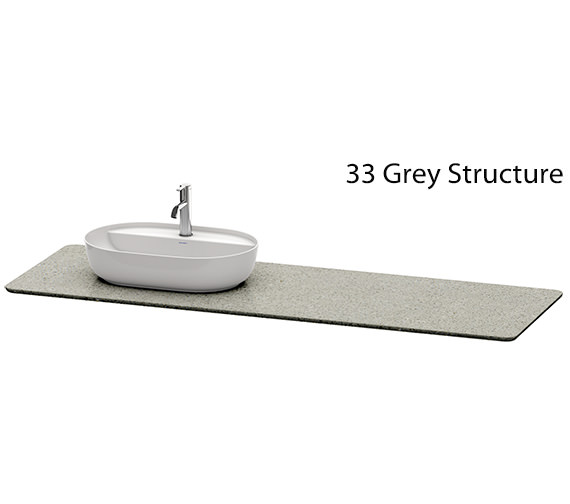 Additional image of Duravit Luv 1783 x 595mm Left Hand 1 Cut-Out Quartz Stone Console