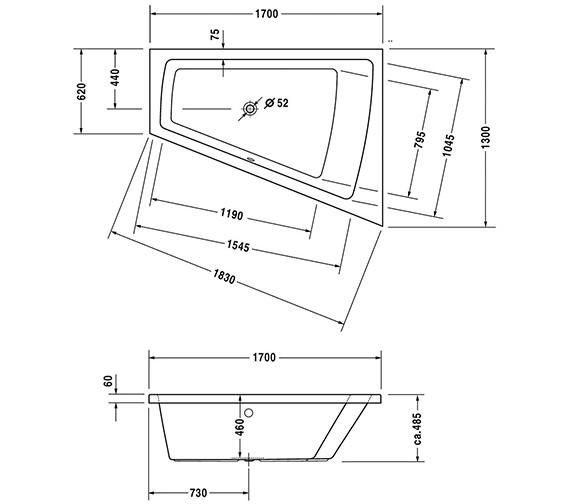 Technical drawing QS-V43726 / 700215000000000