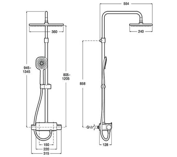 Technical drawing QS-V33615 / 5A9C88C00