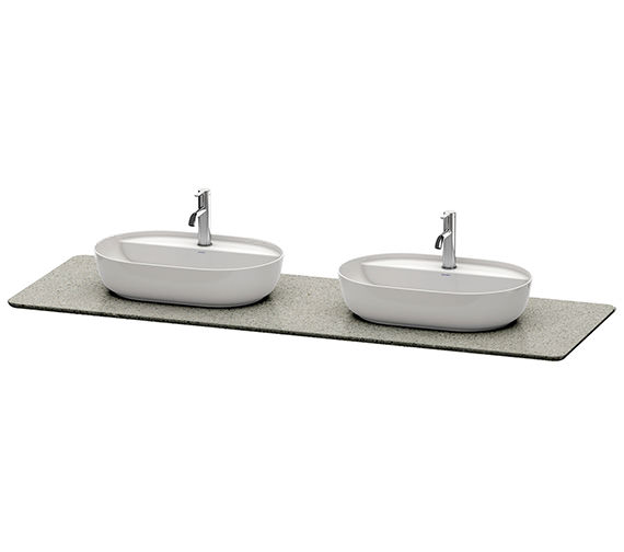 Additional image of Duravit Luv 1783 Wide White Structure 2 Cut-Out Quartz Stone Console