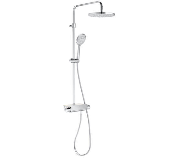 Roca Deck Thermostatic Shower Column With Round Head
