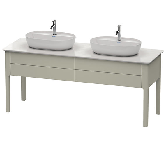 Additional image of Duravit Luv 1733 x 570mm White Satin Matt 2 Pull Out Compartment Unit