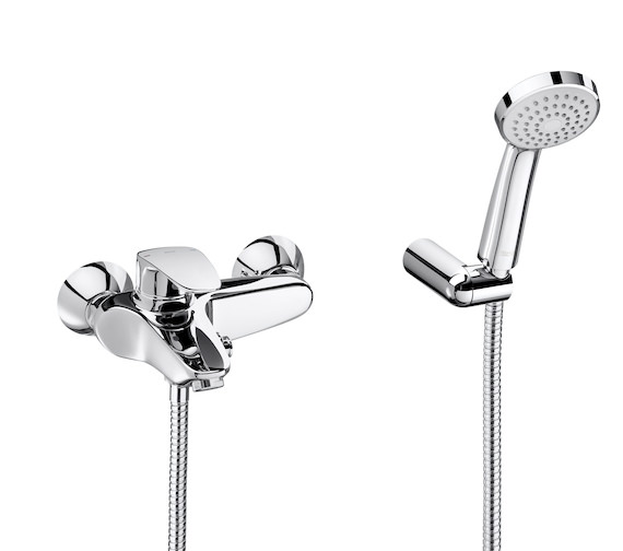 Roca Monodin-N Wall-Mounted Bath-Shower Mixer Tap With Hose And Handset