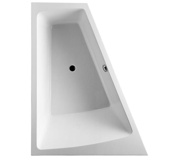 Additional image of Duravit Paiova 1700 x 1300mm Right-Left Backrest Slope Bath With Frame