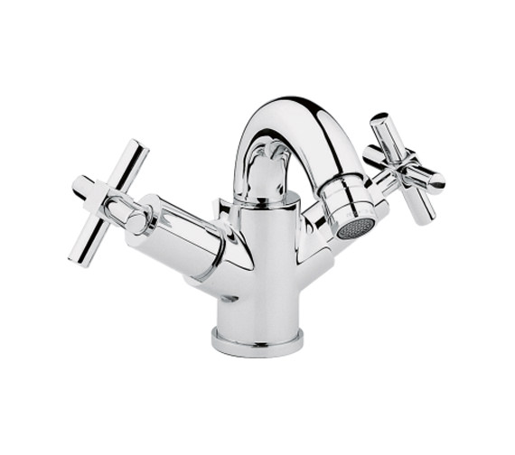 VitrA Uno Chrome Bidet Mixer Tap With Pop Up Waste