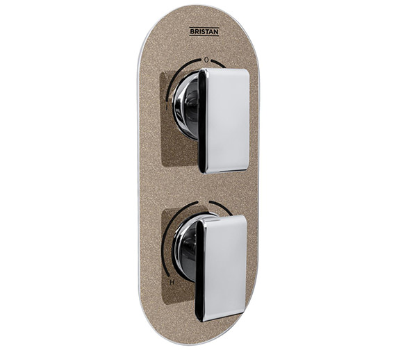 Bristan Metallix Pivot Concealed Dual Control Thermostatic Valve And Diverter