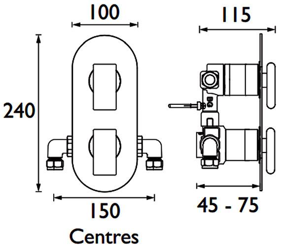 Technical drawing QS-V88336 / MPIV2 SHCDIV CR