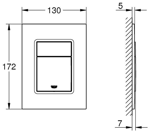 Technical drawing QS-V80734 / 37535000