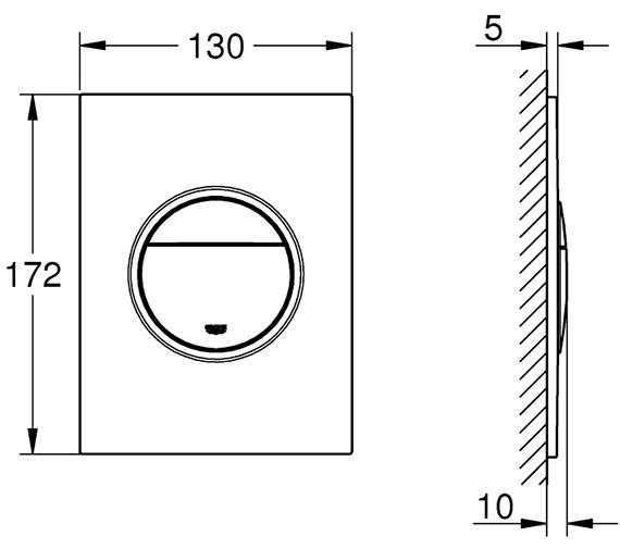 Technical drawing QS-V80735 / 37601000
