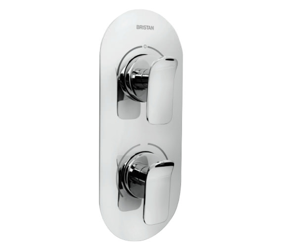 Bristan Alp Chrome Concealed Dual Control Thermostatic Valve And Diverter