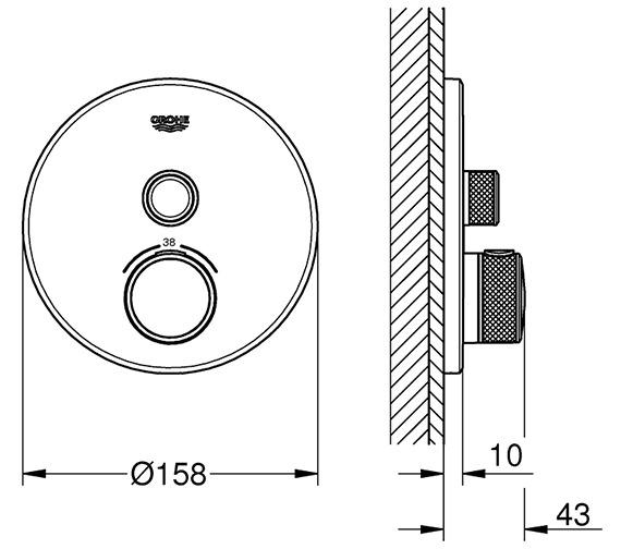 Technical drawing QS-V80738 / 29118000