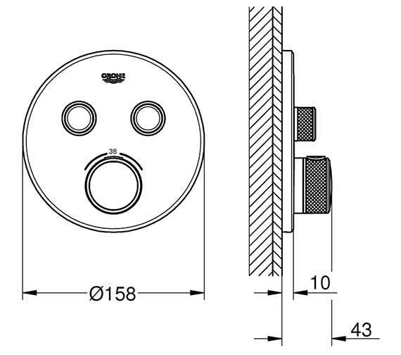 Technical drawing QS-V80739 / 29119000