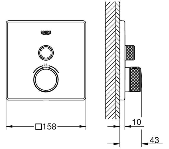 Technical drawing QS-V80743 / 29123000