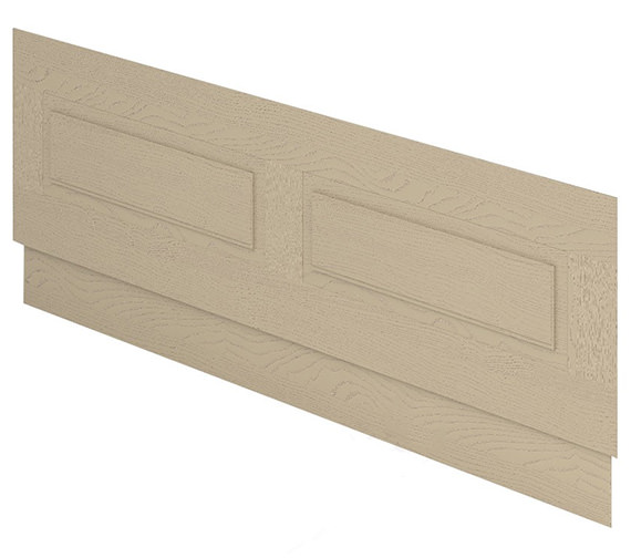 Alternate image of Essential Hampshire MDF 1700mm Front Bath Panel Mussel Ash