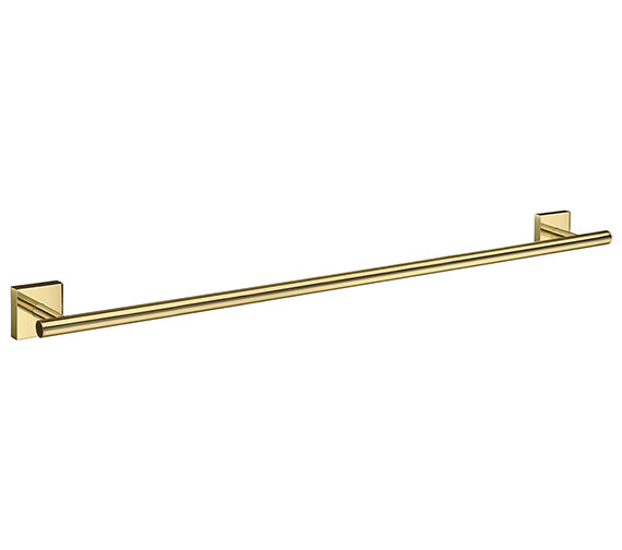 Smedbo House 648mm Polished Brass Single Towel Rail - More Finishes Available