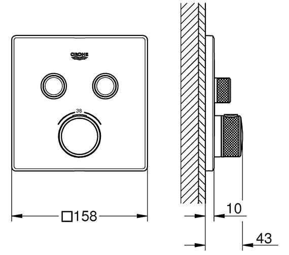 Technical drawing QS-V80744 / 29124000