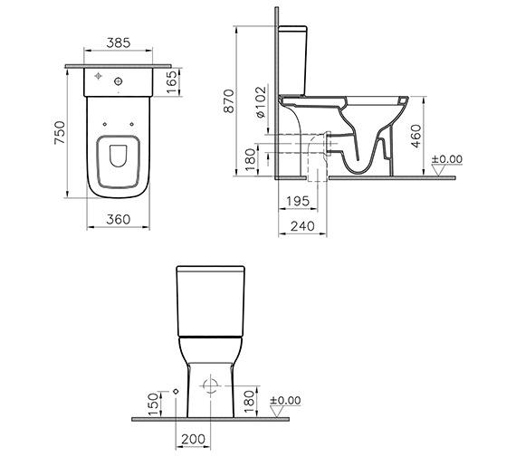 Technical drawing QS-V90559 / 5293L003-0075