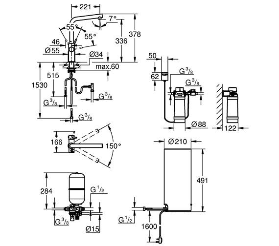 Technical drawing QS-V80763 / 30340001