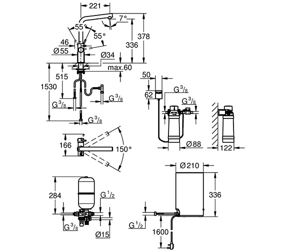 Technical drawing QS-V80764 / 30341001