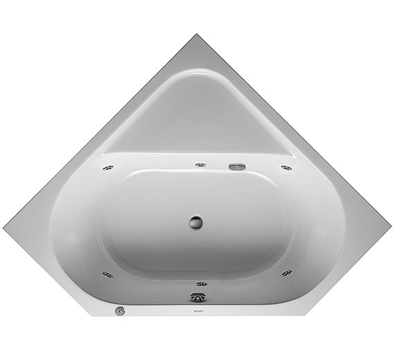 Duravit D-Code 1400 x 1400mm Built-In Whirltub With Central Outlet