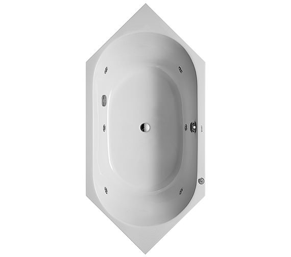 Duravit D-Code 1900 x 900mm Built-In Whirltub With Central Outlet